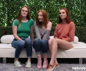 3 Redheads and one Lucky..