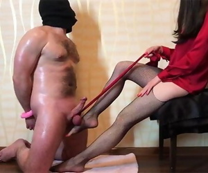Domme Ballbusting and Cock..