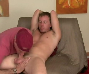 Str8 Hung Blonde uses Precum..