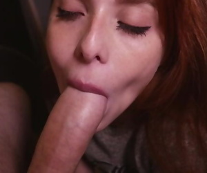 Redhead Gf the best Blowjob..