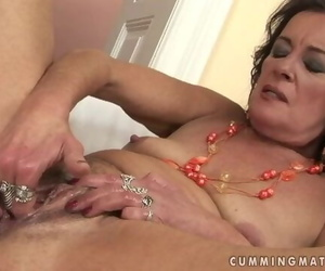 Horny Granny Wank and Squirt