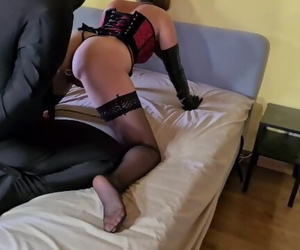 Bound Slave made to Fuck his..